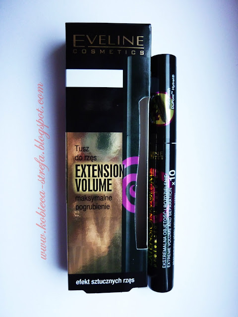 Eveline Cosmetics - EXTENSION VOLUME PROFESSIONAL MAKE-UP 4D FALSE DEFINITION EXTRA VOLUME & CARBON BLACK MASCARA - Najnowsza maskara Extension Volume 4D FALCE DEFINITION