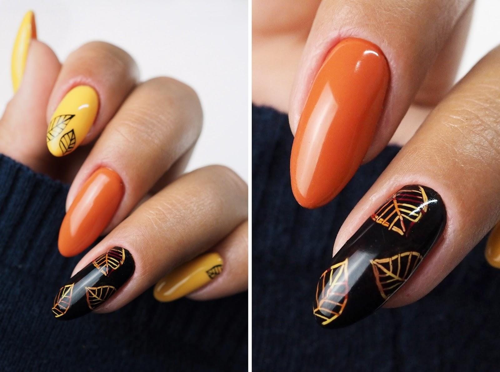pomysł na jesienne paznokcie