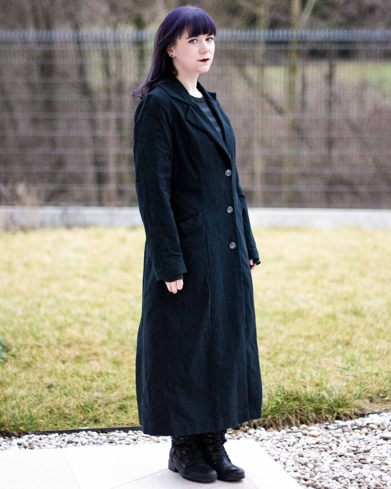 Minn's Things sewing By Hand London's Rumana Coat pattern winter classic gothic