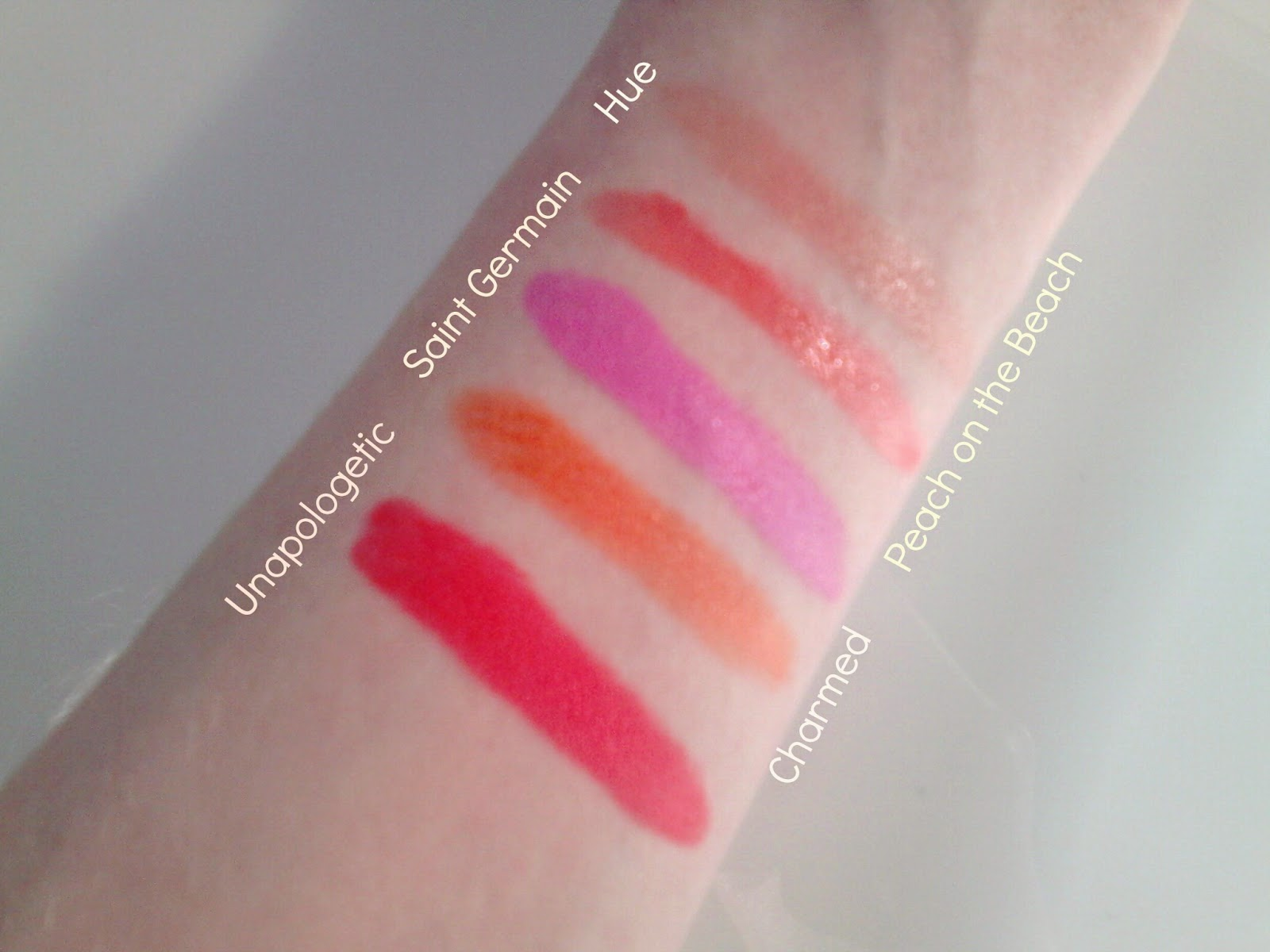 Spring and Summer Lipstick Swatches