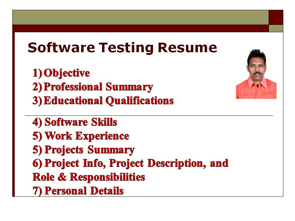 Software Testing. Software Testing Resume  Software Testing Resume