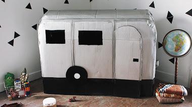 Cómo hacer una caravana con cartón reciclado