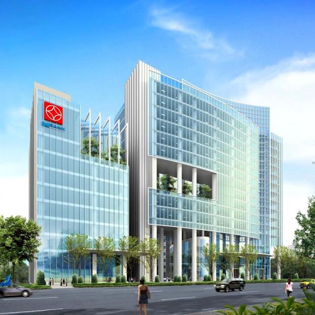 Phối cảnh nhìn từ mặt đường Láng Hạ - BRG Grand Plaza