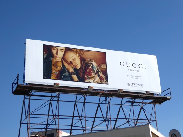 Gucci timepieces FW17 billboard