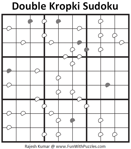 Double Kropki Sudoku (Fun With Sudoku #309)