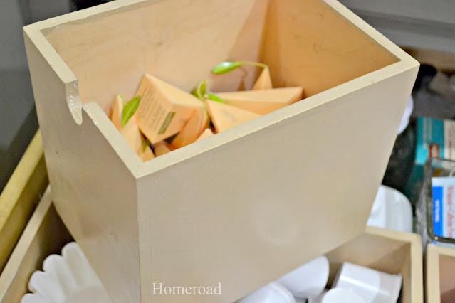 IKEA boxes for tea organizers