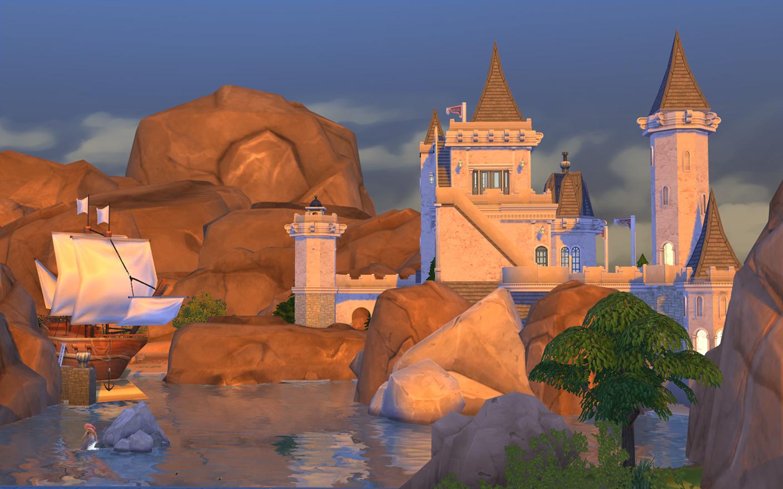 ปราสาทนางเงือก The Sims 4