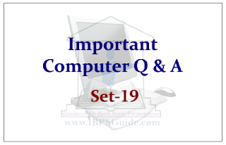 SBI PO Exam 2015- Important Computer Questions