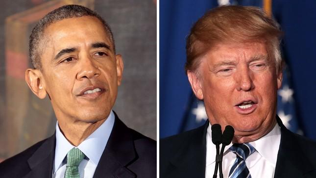 Barack e Michelle Obama não quiseram dar a chance de serem fotografados ao lado de Donald Trump e Melania Trump na entrada da Casa Branca