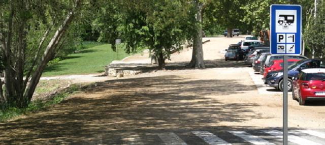 Entrada àrea d'autocaravanes de l'Espluga de Francolí