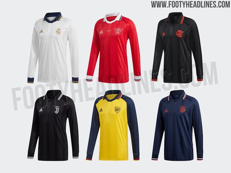 Tranquilidad contaminación Cirugía  Adidas Arsenal, Bayern, Madrid, Man Utd, Juventus & Flamengo 19-20 Icon  Retro Long-Sleeve Jerseys Released - Footy Headlines