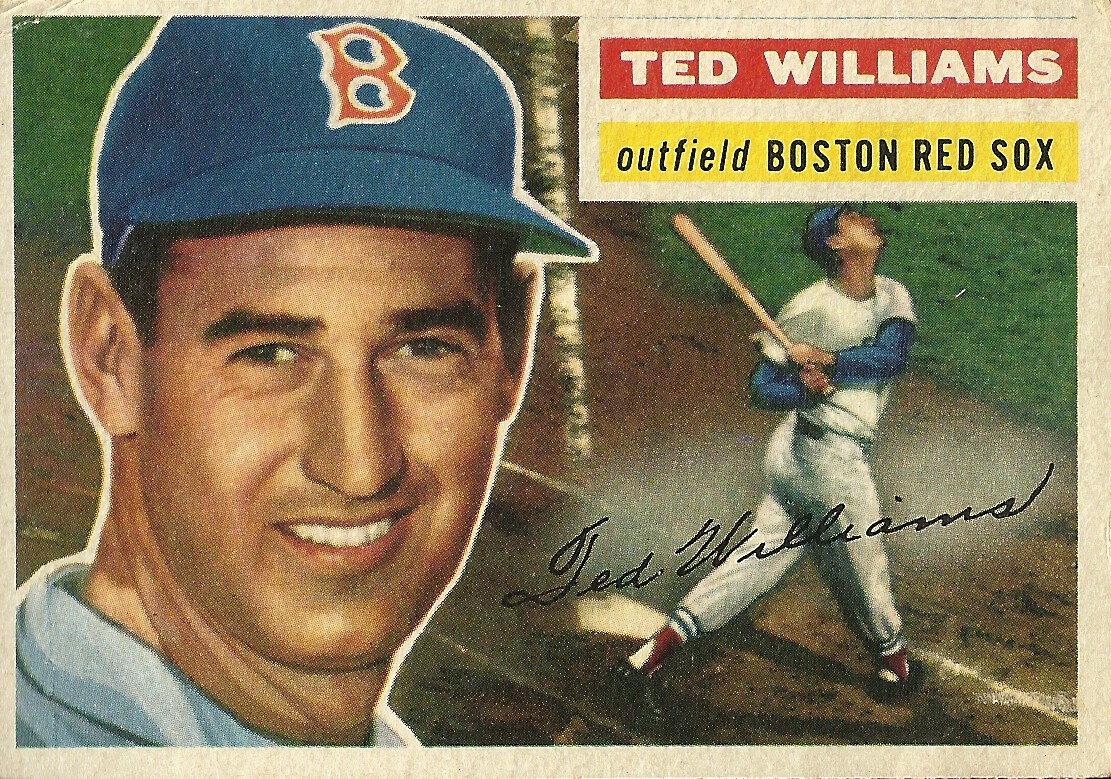 1956 Topps 5 Ted Williams Boston Red Sox