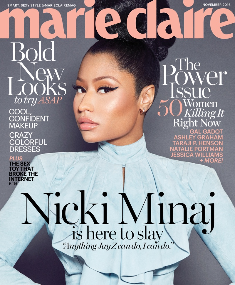 Nicki Minaj slays in Balmain for Marie Claire November 2016