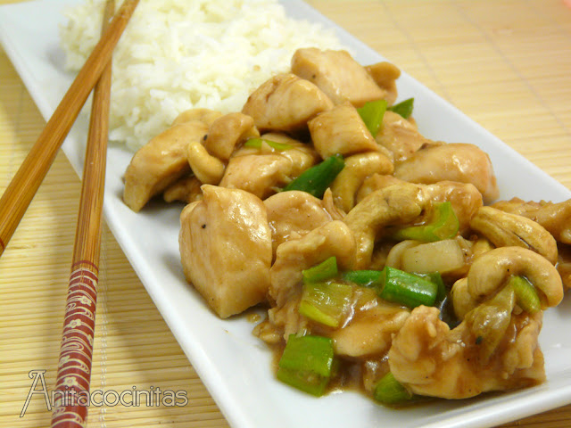Pollo glaseado con salsa Hoisin. Receta china
