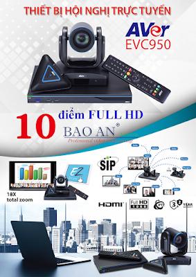 Thiết bị hội nghị truyền hình AVer EVC950 giải pháp đa điểm chất lượng cao