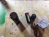 Disassembling the flashlight