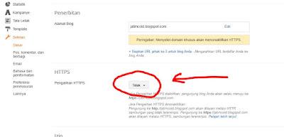 setting HTTPS di blogger2