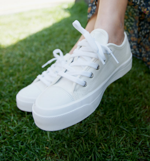 Lace-Up Platform Sneakers