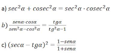 trigonometría 4º eso identidades trigonométricas
