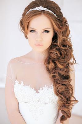Peinados de novia cabello largo