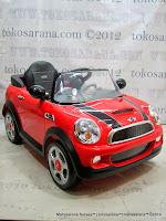 Mobil Mainan Aki Junior W446 Mini Cooper Lisensi