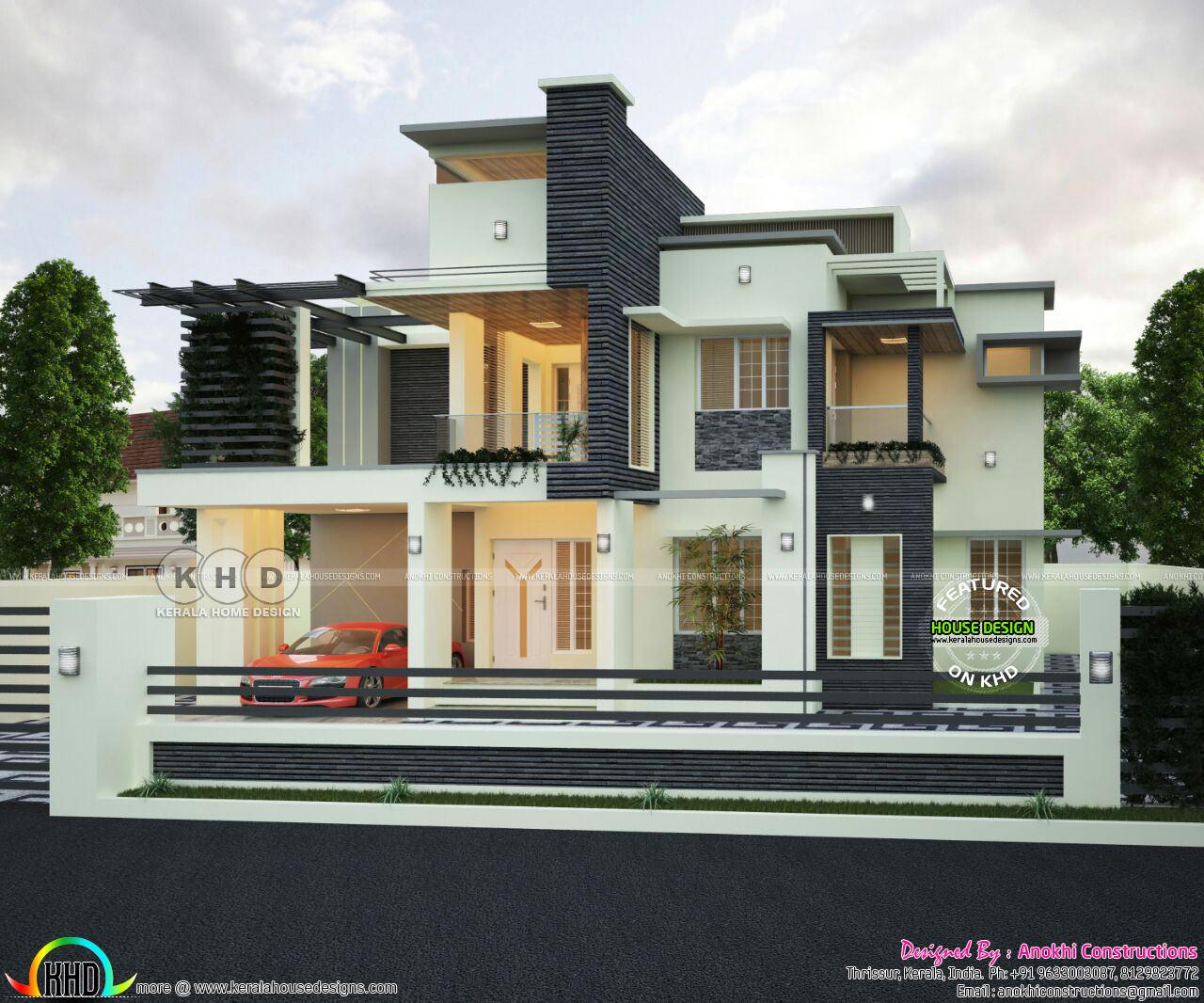 2320 Square Feet 3 Bedroom Decorative House Kerala Home
