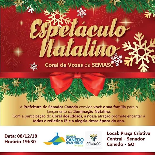 Senador Canedo: Espetáculo Natalino abre festividades de final de ano