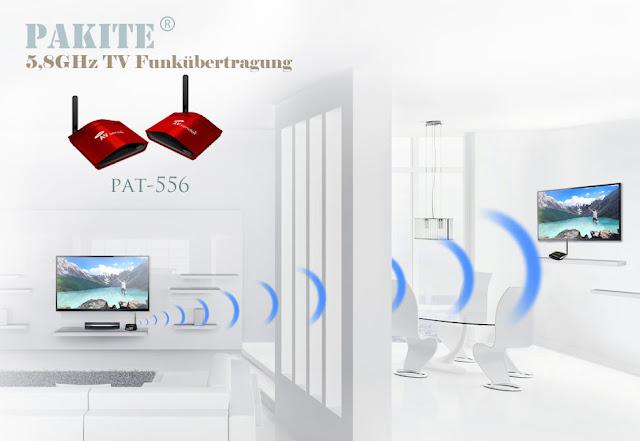 PAT-556 av-sender, die 5,8 GHz TV Funkübertragung mit 300m wlan reichweite übertragen