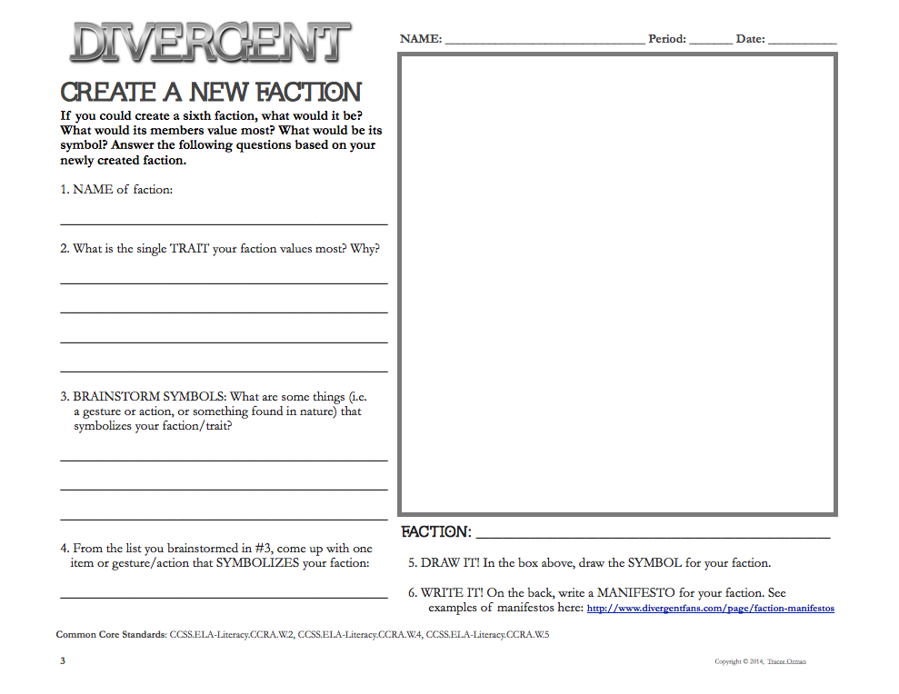 Divergent Novel Activities and Resources - blog post