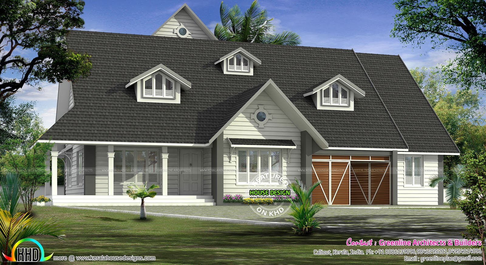 European Model Bungalow Architecture Kerala Home Design