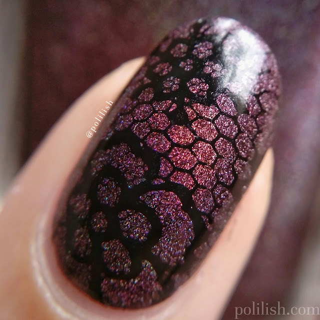 Floral lace manicure featuring Born Pretty Store stamping products | polilish