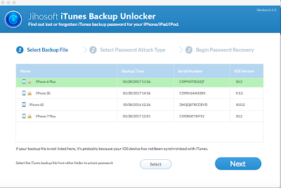 Decrypt iTunes password for iPhone/iPad/iPod