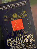 The Eighth Day of Creation,  by Horace Freeland Judson, superimposed on Intermediate Physics for Medicine and Biology.
