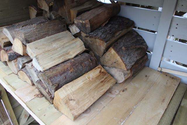 logs in a shed