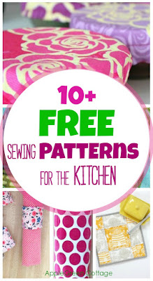 easy sewing projects for your kitchen with free sewing patterns