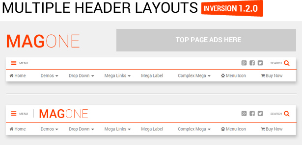 MagOne - Ultimate Blogger Magazine Template Multiple Header Layouts