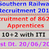 Southern Railway - Recruitment of 862 Nos. Last Dt. 20/06/2016