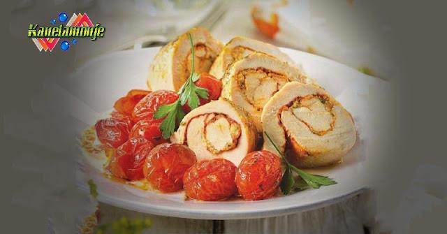 Rollito de Pollo con mostaza y avellanas