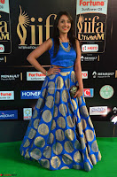 Madhu Shalini Looks Super Cute Slim trim Blue Choli Ghagra IIFA Utsavam Awards 015.JPG