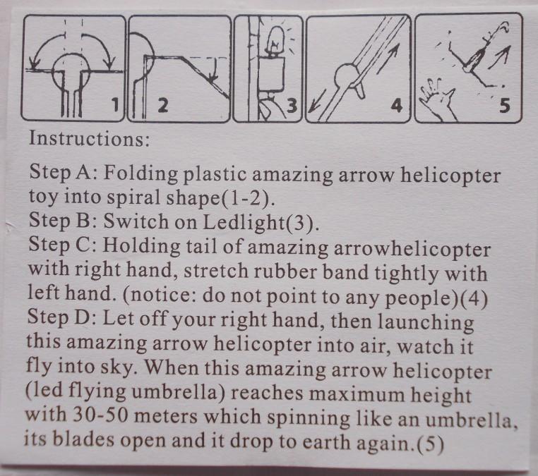Blister card packing y shape slingshot prefold wing amazing flying.