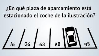 En qué plaza de aparcamiento está estacionado el coche de la ilustración