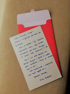 Carta escrita a mão pelo time Brastemp B.blend