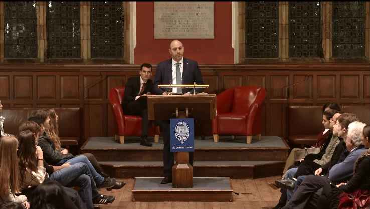 H.E. Dr. Husam Zomlot at Oxford Union