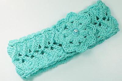 5 - Crochet IMAGEN Cinta para la cabeza rosa a crochet muy fácil y sencillo. MAJOVEL CROCHET