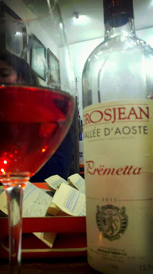 Premetta rose of the Valle d'Aosta with Grosjean winery
