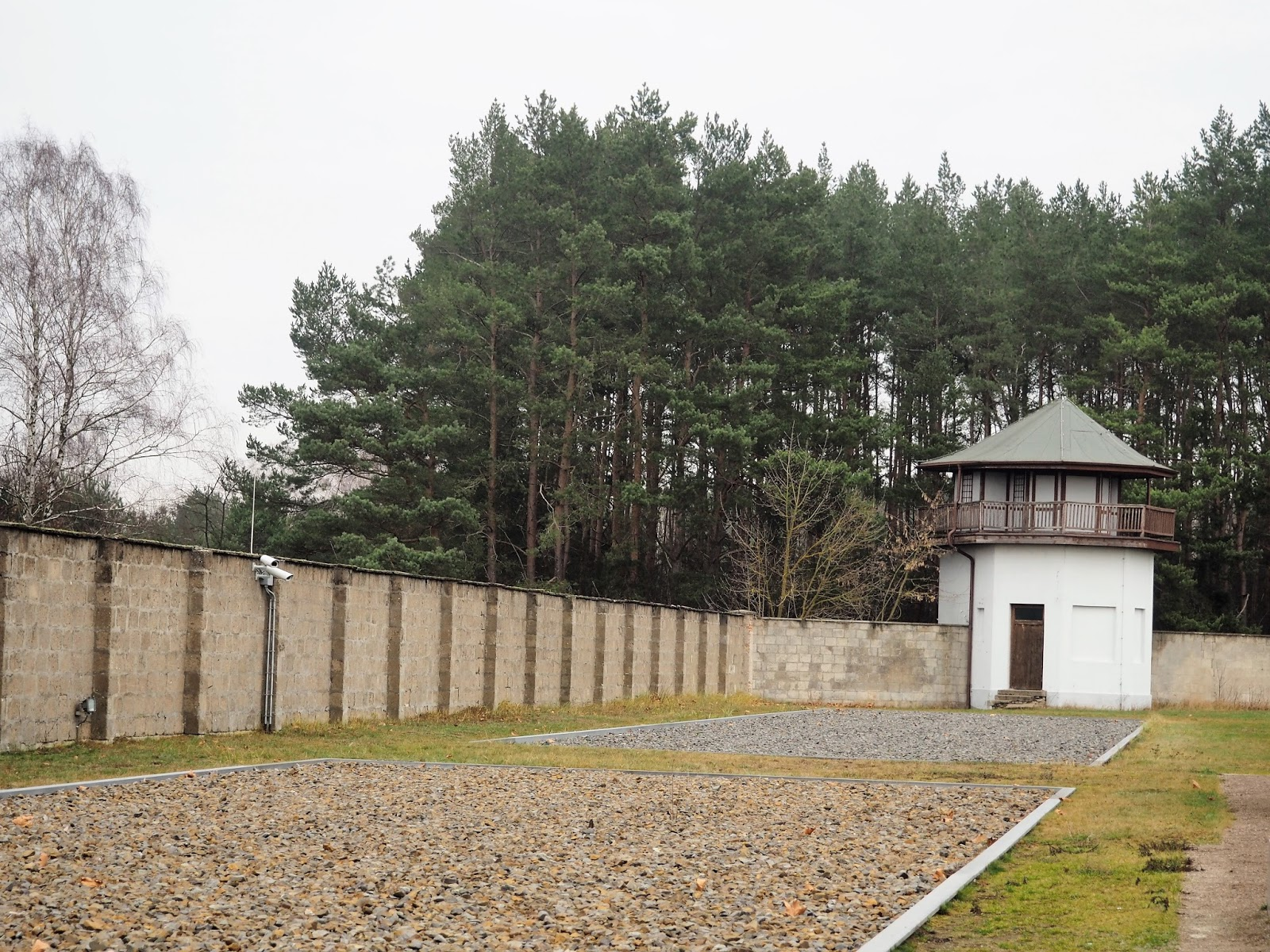 Sachsenhausen Concentration Camp wall and guard tower
