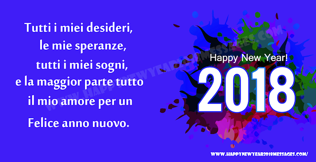 happy new year 2018 italian Messages