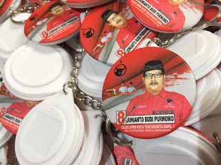 Bikin Gantungan Kunci Pilkada Murah - 1000 pcs Gantungan Kunci 4,4 cm - Caleg DPRD Yogyakarta