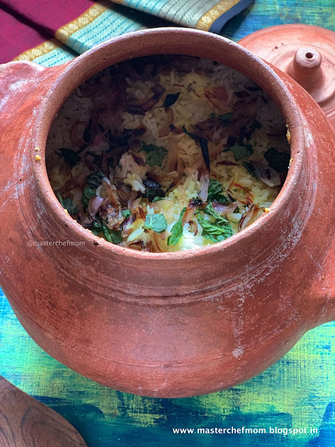 Claypot Layered Vegetable Biryani