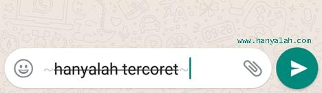 Cara Bikin Huruf di WhatsApp Jadi Tercoret